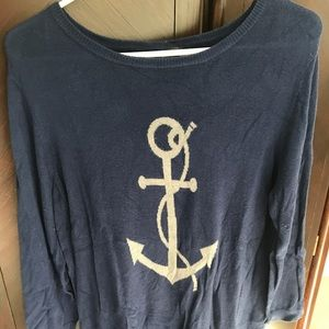 The Limited Crewneck Anchor Sweater